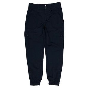 Elevenses 0 Navy Blue Draped Silky Jogger Pants